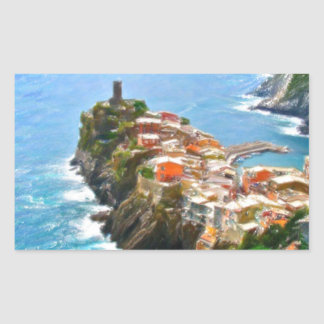 Beautiful Peninsula, Vernazza, Italy Rectangular Sticker