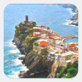 Beautiful Peninsula, Vernazza, Italy Square Sticker