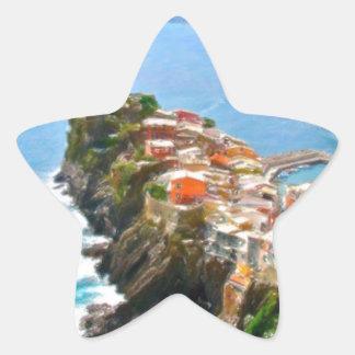 Beautiful Peninsula, Vernazza, Italy Star Sticker
