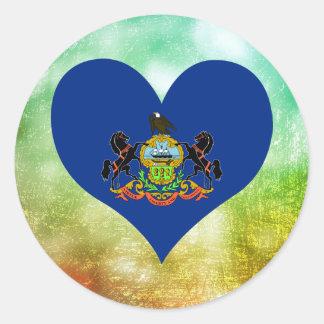 Beautiful Pennsylvanian Classic Round Sticker