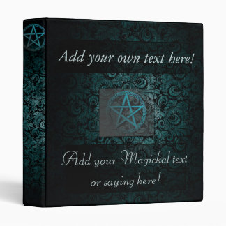 Beautiful pentacle book of shadows/witches journal binder