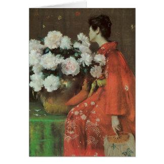 Beautiful Peonies by William Merritt Chase Card