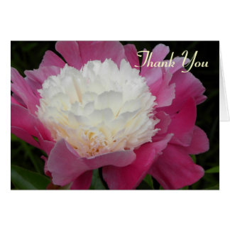Beautiful Peony - Blank Thank You Card