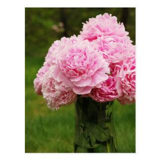 Beautiful Peony Bouquet Postcard