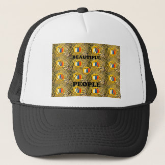 Beautiful People African Traditional Motif Colors  Trucker Hat
