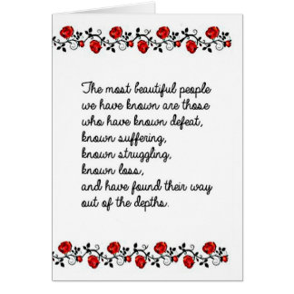 Beautiful People Do Not Just Happen Card