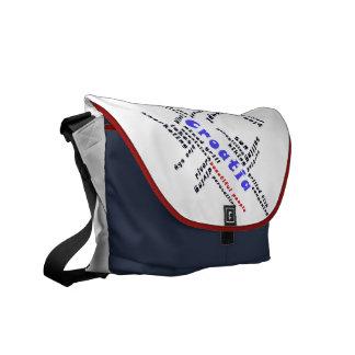 Beautiful people farrowed messenger bag