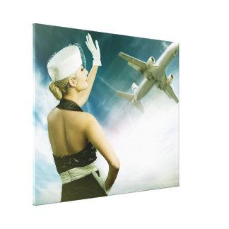 Beautiful People Retro Flight Attendant Canvas Art