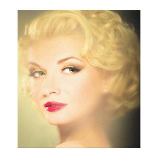 Beautiful People Retro Woman Series Canvas Print