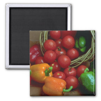 Beautiful Peppers and tomatoes 2 Inch Square Magnet