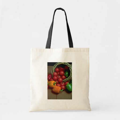 Beautiful Peppers and tomatoes Budget Tote Bag