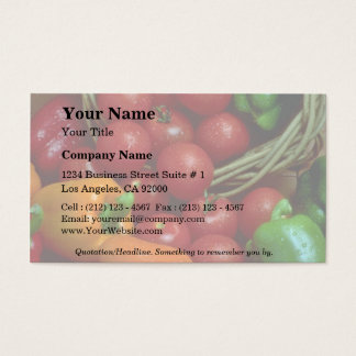 Beautiful Peppers and tomatoes Business Card
