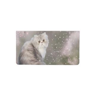 Beautiful persian kitty cat checkbook cover