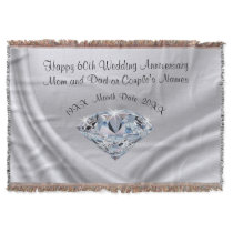 Beautiful Personalized 60th Anniversary Gift Ideas Throw Blanket