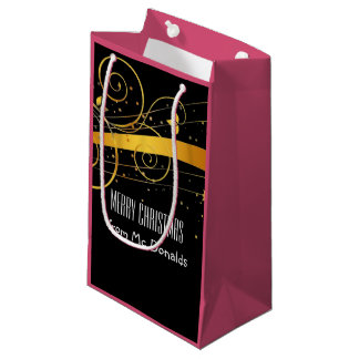 Beautiful personalized black and golden gift bag small gift bag