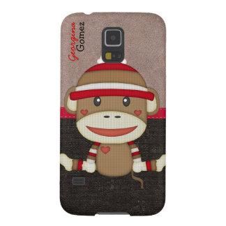 Beautiful Personalized Custom Sock Monkey Galaxy S5 Cases