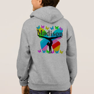 BEAUTIFUL PERSONALIZED GYMNASTICS ZIP HOODIE