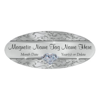 Beautiful Personalized Magnetic Name Tags Badges