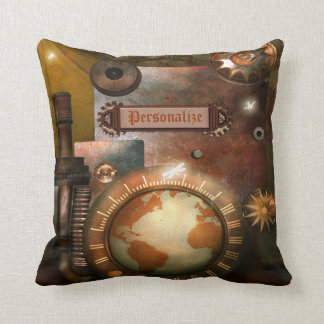 Beautiful Personalized Steampunk Throw Pillow