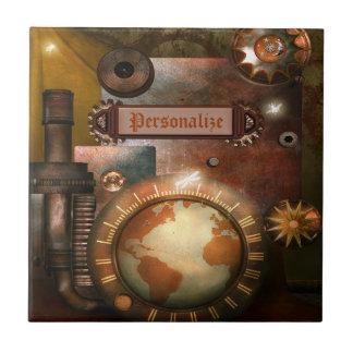 Beautiful Personalized Steampunk Tile