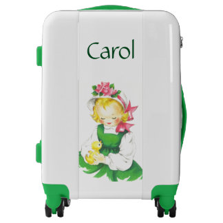 Beautiful Personalized Vintage Girl Suitcase