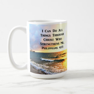 BEAUTIFUL PHILIPPIANS 4:13 SCRIPTURE PHOTO COFFEE MUG