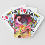 beautiful phoenix bird colourful background image bicycle playing cards
