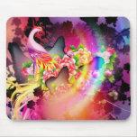 beautiful phoenix bird colourful background image mousepads