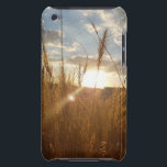"Beautiful Photo of a Sunset over a Wheat Field Barely There iPod Case<br><div class=""desc"">Beautiful Photo of a Sunset over a Wheat Field Phone Case</div>"