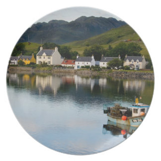 Beautiful  photo of small village of Dornie with Dinner Plate