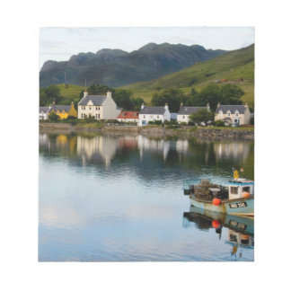 Beautiful  photo of small village of Dornie with Notepad