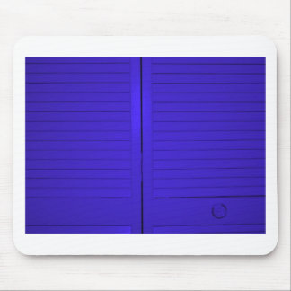 Beautiful photograph of blue doors, abstract art mouse pad