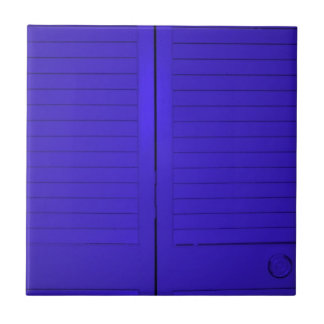 Beautiful photograph of blue doors, abstract art small square tile