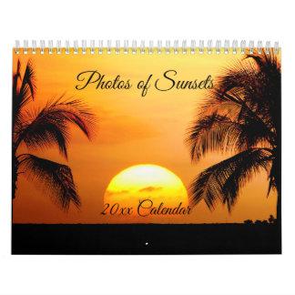 Beautiful Photos of Sunsets, Medium Size Calendar