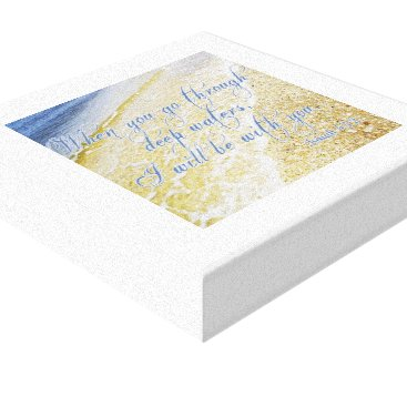 """Beach Themed Beautiful Picture   Bible Verse Canvas 12"""" x 12"""""""