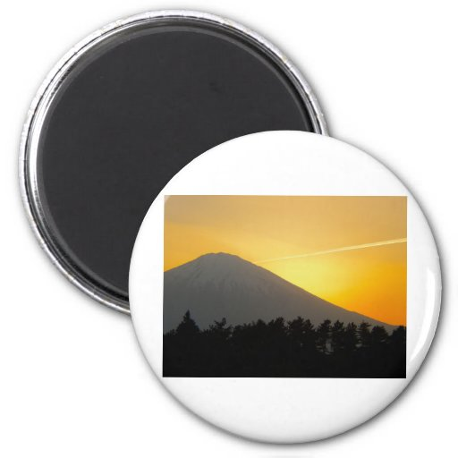 Beautiful Picture of Mt. Fuji in Japan 2 Inch Round Magnet