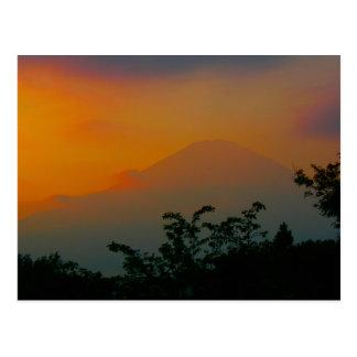 Beautiful Picture of Mt. Fuji in Japan Postcard