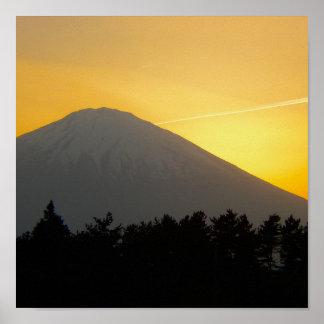 Beautiful Picture of Mt. Fuji in Japan Poster