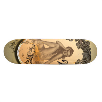 Beautiful pin up girl skateboard