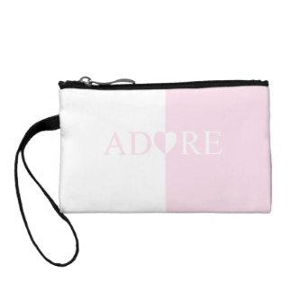 Beautiful Pink Adore Heart Clutch