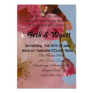 Beautiful Pink Aloha Hawaiian Blossom Wedding Card