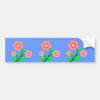 Beautiful Pink and Beige Flowers Bumper Sticker