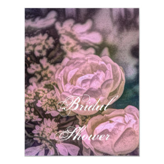 beautiful pink and dusty rose floral design card