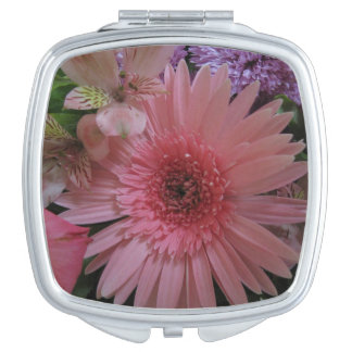 Beautiful Pink and Purple Flowers Vanity Mirror