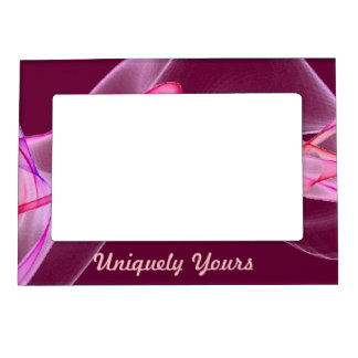 Beautiful Pink and Purple on Maroon Background Picture Frame Magnets