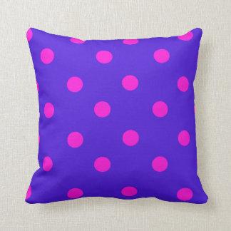 Beautiful Pink and Purple Polka Dots Pillow