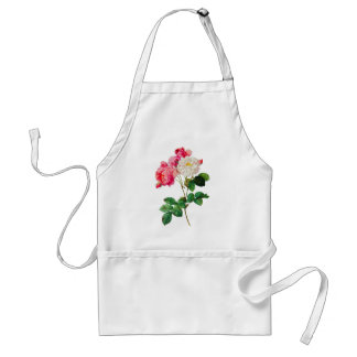 Beautiful Pink and White Roses by Redoute Adult Apron