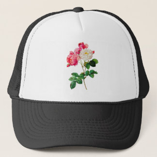 Beautiful Pink and White Roses by Redoute Trucker Hat