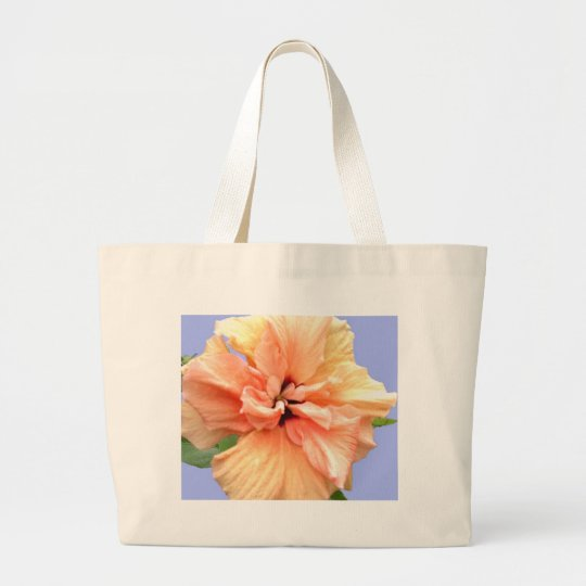 Beautiful Pink and Yellow Plumeria Large Tote Bag
