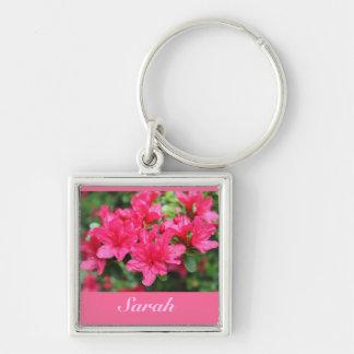 beautiful pink azalea flowers name key chain